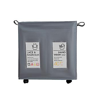 Waterproof foldable laundry basket bag, dirty clothes storage basket with wheels, bedroom bathroom