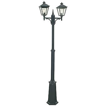 Poste de lámpara doble al aire libre, E27