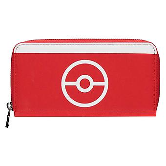 Pokemon Purse Trainer Tech poke Ball Logo nouveau Red Officiel Zippé Autour