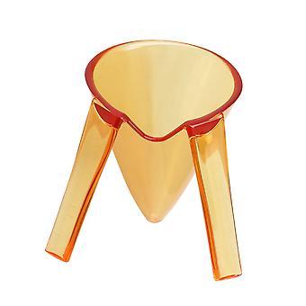 oransje gjennomsiktig akryl bolle med stativ