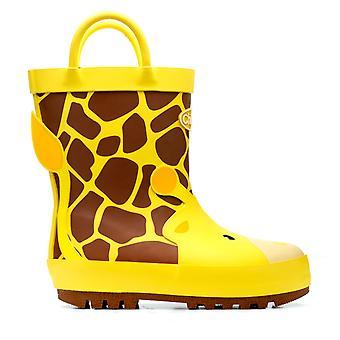 Chipmunks Boys Gabe Giraffe Wellingtons Yellow
