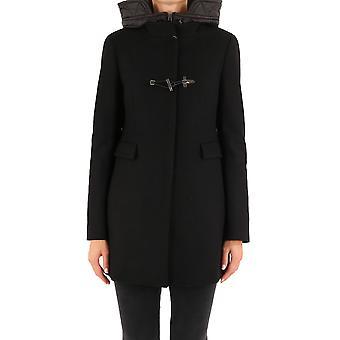 Fay Naw59413430sglb999 Women's Black Wool Coat