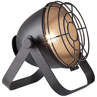 LYSANDE Lampa Bo Bordslampa Rutnät Svart | 1x A60, E27, 60W, lämplig för normala lampor (medföljer ej) | Skala A++