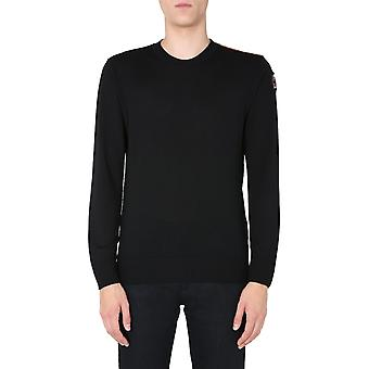 Parajumpers Pmknikn22p62541 Men's Black Wool Sweater