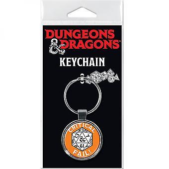 Dungeons & Dragons Critical Fail Keychain