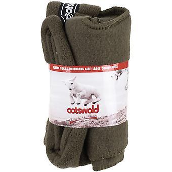 Cotswold Boys Childrens Super Soft Fleece Wellington Socks Green