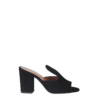 Paris Texas Px56suedeblack Women's Black Suede Slippers