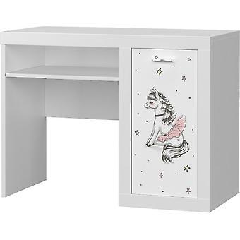 Detský stôl balet 100x80x52 cm - biela - s úložným priestorom