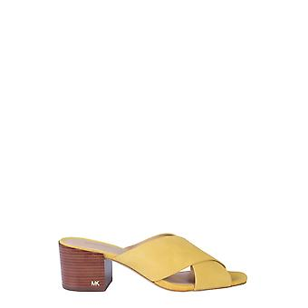 Michael Por Michael Kors 40s9abmp1s705 Women's Yellow Leather Slippers