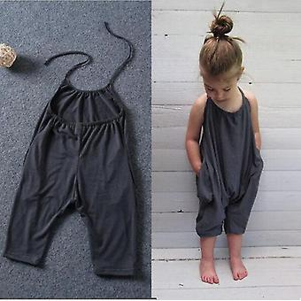 Summer Baby Solid Overalls Jumpsuit, Soft Fashion Sunsuits, Outfit Clothes