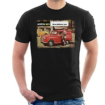 Austin A35 5cwt Delivery Van British Motor Heritage Men-apos;s T-Shirt