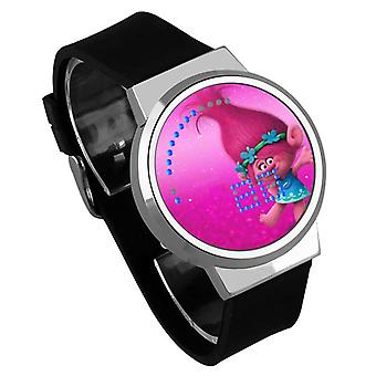 Waterproof Luminous LED Digital Touch Children watch  - Trolls #18