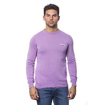 Roberto Cavalli Sport Lavender Round Neck Long Sleeve Sweater