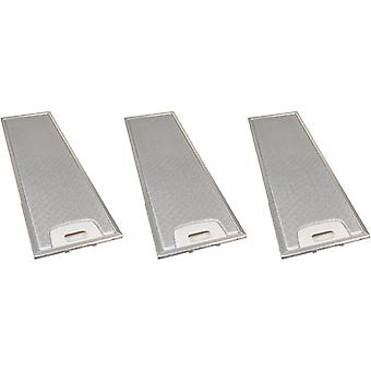 3 x univerzální digestoř kovový tukový filtr 170mm x 552mm