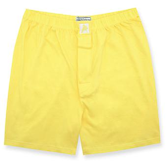 Biagio mäns Solid BOXER 100% stickad bomull Shorts