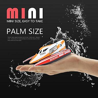Rc Boat 4 Ch High Speed Mini Racing Boat, Drop Bruise Rechargeable Powerful
