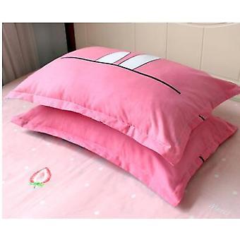 Oddychająca poszewka na poduszkę dla niemowląt, poszewka na poduszkę z nadrukiem truskawkowym