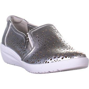 Anne Klein Womens Yvette6 Low Top Zipper Fashion Sneakers