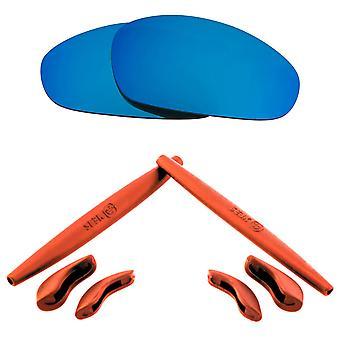 Polarized Replacement Lenses Kit for Oakley Juliet Blue Mirror Red Anti-Scratch Anti-Glare UV400 by SeekOptics