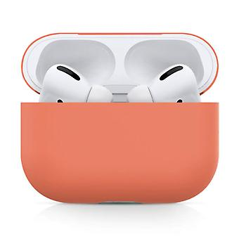 SIFREE Flexible Case for AirPods Pro - Silicone Skin AirPod Case Cover Smooth - Orange