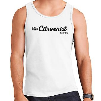 Citro?n The Citro?nst Est 1919 Black Logo Men's Vest