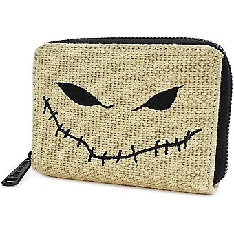 Loungefly Nightmare Before Christmas Oogie Boogie Burlap Zip Purse