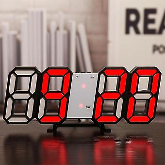 Led Digital Wall Clock, Alarm, Date, Temperature, Automatic Backlight, Table