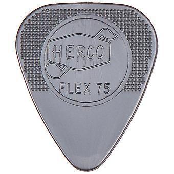 Herco nylon lourd flex plectrum 75 joueurs pack x12 flex75 lourd slv player pack 12 sélections