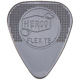 Herco nylon heavy flex plectrum 75 players pack x12 flex75 heavy slv player pack 12 picks