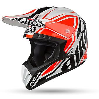 Airoh Switch Impact Orange Full Face Motor Helmet Orange