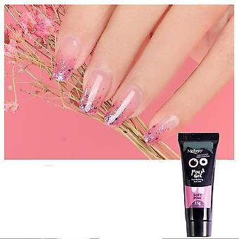 Nail Acrylic Poly Gel - Clear Crystal Uv Led Builder And Tips Enhancement Slip