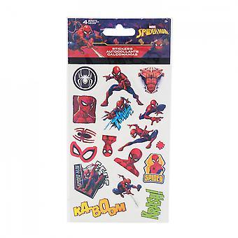 スパイダーマンキャラクターとシンボルステッカーシート4パック