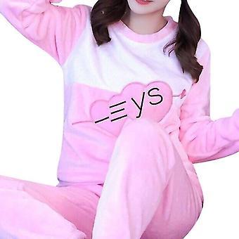 Naisten pyjamasetti, Piirrettyjen kotivaatteet, Eläinten univaatteet, Naisten talvi paksu