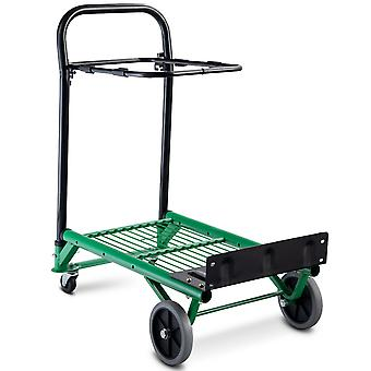 2 in 1 Multi-Functional Folding Hand Truck Sack Truck Trolley Dolly Garden Cart