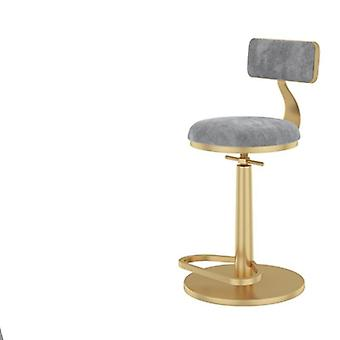 Bar Furniture Barstools Nordic Lift High Chairs Lightluxury Iron Spin Backrest
