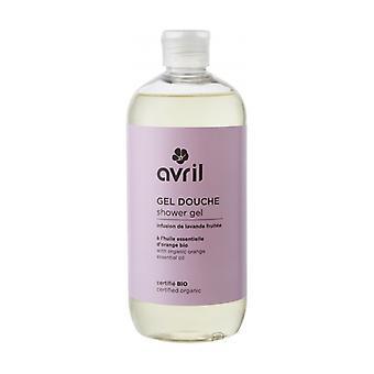 Shower gel Fruity lavender tea - certified organic 500 ml of gel