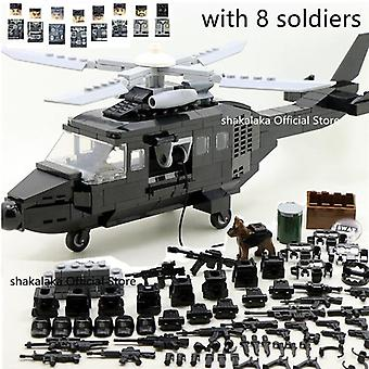 Military Army Ww2 Helicopter Special Forces Team Soldier Cs Building Block