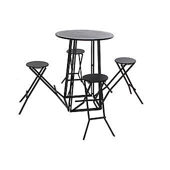 Zestaw stołowy z 4 krzesłami Dekodonia Metal (5 szt.)
