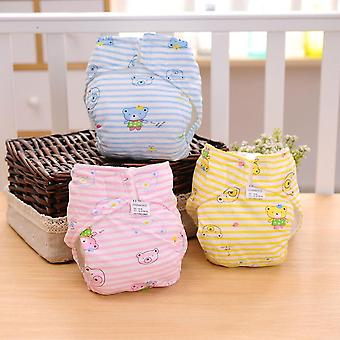 Waterproof Breathable Baby Cotton 2-layer Cloth Diaper Cover