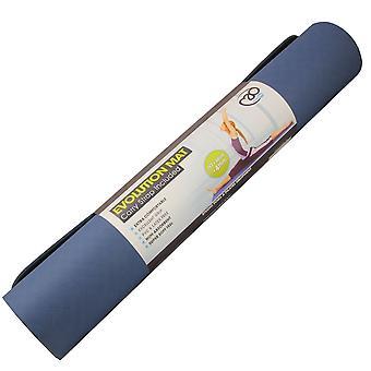Фитнес ума эволюции йога коврик 4 мм - темно-синий