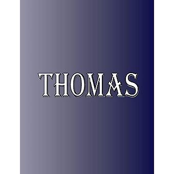 Thomas - 100 Pages 8.5 X 11 Personalized Name on Notebook College Rule