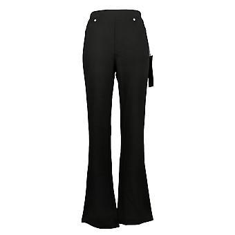 DG2 Por Diane Gilman Mujeres's Pantalones Pull-On Stretch Ponte Negro 708528