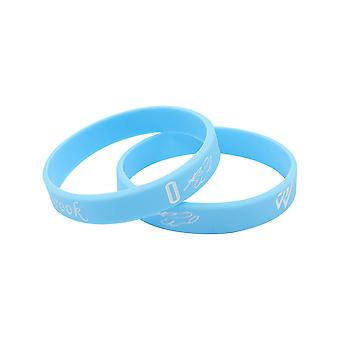 2pcs Basketball Silicone Rubber Bracelet Russell Westbrook Luminous