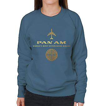 Pan Am Worlds Most Experienced Airline Gold Foil Women's Sweatshirt