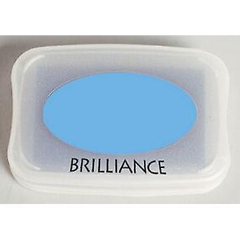 Tsukineko Brilliance Ink Pad - Azul cielo nacarado