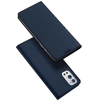 For oneplus 9e case shockproof anti fall flip flap cover blue