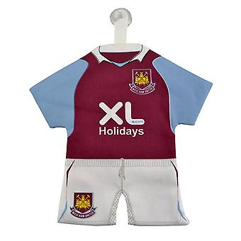 West Ham FC Officiel Mini Football Kit Car Window Hanger