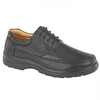 Scimitar Mens Faux Leather Apron Shoes Black
