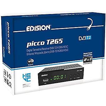 FengChun Picco T265 Full HD H.265 HEVC terrestrischer FTA Receiver T2, (1x DVB-T2, USB, HDMI, SCART,