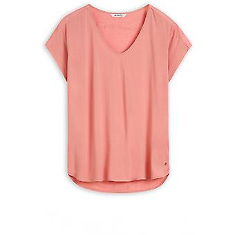 Sandwich Clothing Rosette Silky Front Top